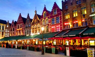 Lovely buildings in Bruges' Markt.