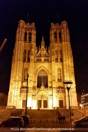 Lit up at night, the Cathedral seems otherworldly.