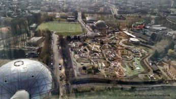 View from atop the Atomium