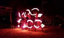 Robinson Crusoe Island fire dancing